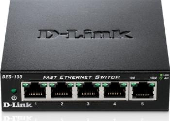 Switch D-Link DES-105 5 porturi Fast Ethernet Switch uri