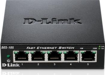 Switch D-Link DES-105 5 porturi Fast Ethernet Switch uri