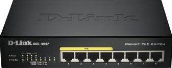Switch D-Link 8-Port Gigabit DGS-1008P