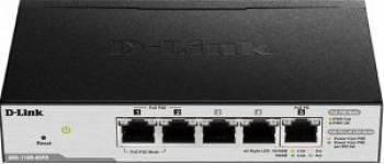 Switch DLink 5-Ports Gigabit cu 2-Ports PoE Switch-uri