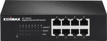 Switch Edimax GS-1008PHE 8-port Gigabit Ethernet 4-port PoE Switch uri