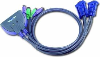 Switch KVM ATEN 2 porturi PS2 CS62S 0.9m Switch uri KVM