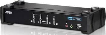 Switch KVM ATEN 4-Port USB DVI CS1764A Switch uri KVM
