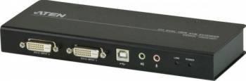 KVM Extender ATEN DVI Dual View CE604L Switch uri KVM