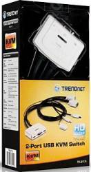 Switch KVM TRENDnet TK-217i 2 porturi USB