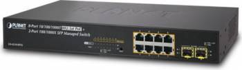 Switch Planet GS-4210-8P2S 8-Port Gigabit PoE+ 2-Port SFP (120W) Switch uri