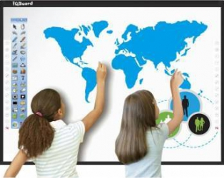 Tabla Interactiva IQboard 87 inch Seria Light  Dual Touch Black Table si Ecrane interactive