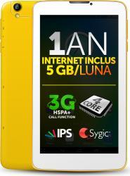 Tableta Allview Viva H7 Life 8GB 3G White-Yellow+Internet Gratuit
