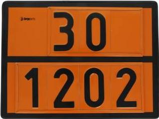 Tablita placa avertizare marcaj ADR 301202 Cargoparts 30x40 cm Scule auto and Accesorii