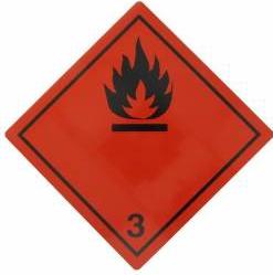 Tablita placa avertizare marcaj ADR 3 Cargoparts Scule auto and Accesorii