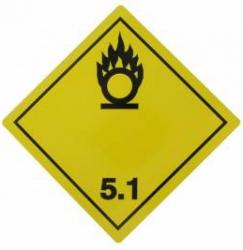 Tablita placa avertizare marcaj ADR 5.1 Cargoparts Scule auto and Accesorii