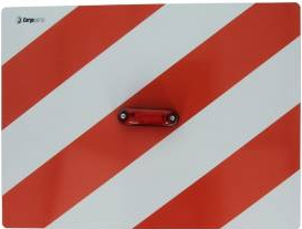 Tablita placa reflectorizanta avertizareinformare cu LED rosu 40x30 cm Cargoparts Scule auto and Accesorii