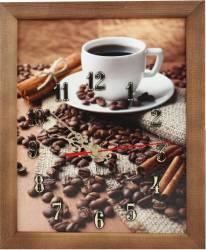 Tablou cu ceas inramat 20x25 cm Coffee