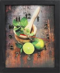 Tablou cu ceas inramat 20x25 cm Lime