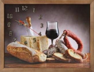 Tablou cu ceas inramat 30x40 cm Food Ceasuri si Radio cu ceas