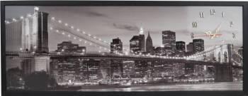 Tablou cu ceas inramat 35x100 cm City