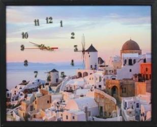 Tablou cu ceas inramat 40x50 cm Greece