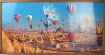 Tablou cu ceas inramat 50x100 cm Baloons Ceasuri si Radio cu ceas