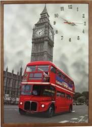 Tablou cu ceas inramat 50x70 cm London Ceasuri si Radio cu ceas