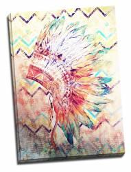 Tablou pe metal striat Indian Feathers Decoratiuni Interioare si Exterioare