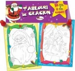 Tablouri de Craciun + Creioane colorate cadou