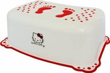 Taburet copii MyKids Hello Kitty Alb Rosu antialunecare Olite si reductoare WC