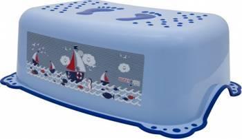 Taburet Inaltator Baie Copii MyKids Ocean Sea cu sistem antialunecare Albastru Olite si reductoare WC