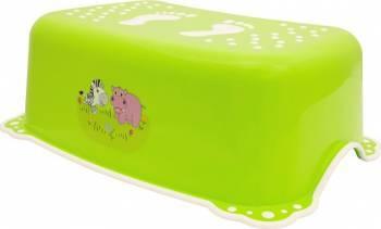 Taburet Inaltator Baie Copii MyKids Zoo cu sistem antialunecare Verde Olite si reductoare WC
