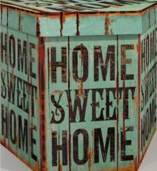 Taburet Pliabil Heinner Home 38x38x43 cm PVC, HOME SWEET HOME Decoratiuni camera