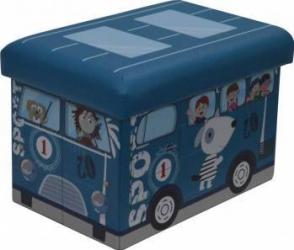 Taburet Pliabil Heinner Home PVC PTR Copii, Blue Decoratiuni camera
