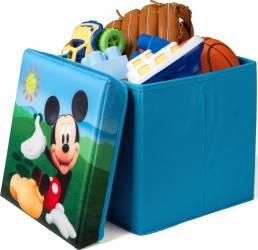Taburet si cutie depozitare jucarii Disney Mickey Mouse Mobila si Depozitare jucarii