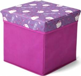Taburet si cutie depozitare jucarii Hello Kitty Mobila si Depozitare jucarii