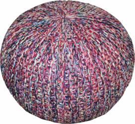 Taburet tricotat rotund Heinner Home 45x35 cm Multicolor Mobila si Depozitare jucarii