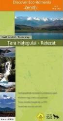 Tara Hategului-Retezat - Harta Turistica Carti
