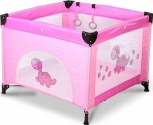 Tarc de joaca Conti Roz Patut bebe,tarcuri si saltele