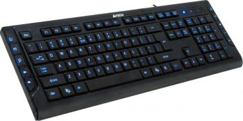 Tastatura A4TECH KD-600L USB Black - Blue Light Tastaturi