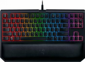 Tastatura Gaming Mecanica Razer Blackwidow Tournament Edition Chroma V2 Yellow Switch Layout US Tastaturi Gaming