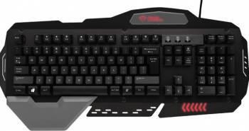 Tastatura Trust GXT 850 Metal Gaming black