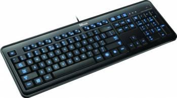 Tastatura Trust eLight LED Iluminata USB Black Tastaturi