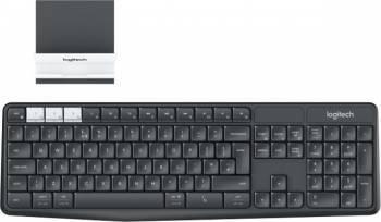 Tastatura Wireless Logitech K375s Bluetooth Neagra Tastaturi