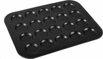 Tava Macarons-Fursecuri 20 forme 35.5x27.5x0.9cm, Negru Vase pentru gatit