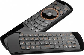 Telecomanda IR universala Smart TV cu tastatura qwerty si Air mouse Rii RTMWK25 Accesorii diverse pentru TV-uri