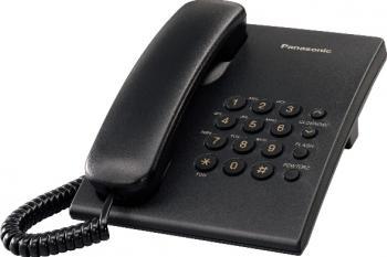Telefon analogic Panasonic KX-TS500FXB Negru
