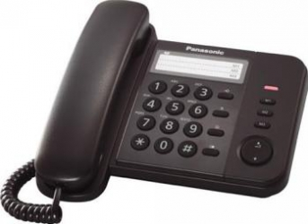 Telefon analogic Panasonic KX-TS520FXB Negru Telefoane
