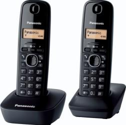 Telefon DECT Panasonic KX-TG1612FXH Acumulator Negru Telefoane