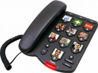 Telefon Fix Fysic FX3200 cu Butoane Mari cu Poze Telefoane