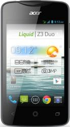imagine Telefon Mobil Acer Liquid Z3 Duo Black acz3dblk