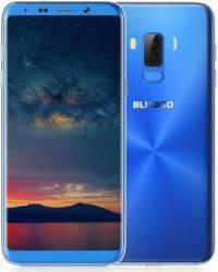 Telefon mobil Bluboo S8 Plus 64GB Dual SIM 4G Blue + Husa Silicon + Folie Sticla Telefoane Mobile