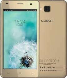Telefon Mobil Cubot Echo 16GB Dual Sim Gold + Husa si Folie Telefoane Mobile