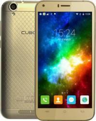 Telefon Mobil Cubot Manito 16GB Dual Sim 4G Gold + Husa Silicon si Folie Plastic Telefoane Mobile